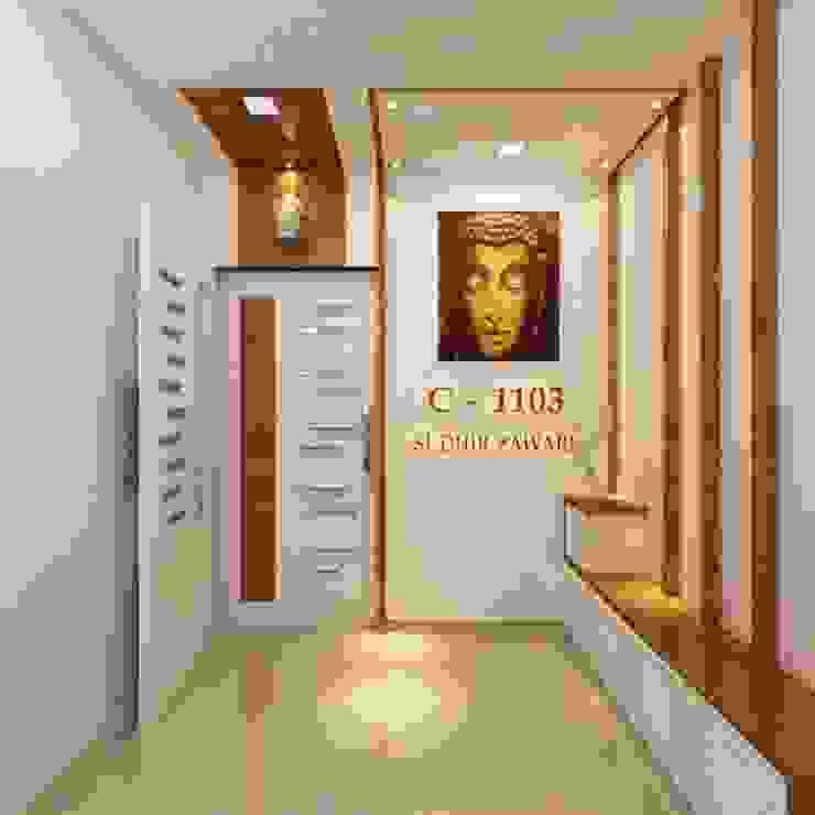 Entrance angle 2 Minimalist corridor, hallway & stairs by Square 4 Design & Build Minimalist