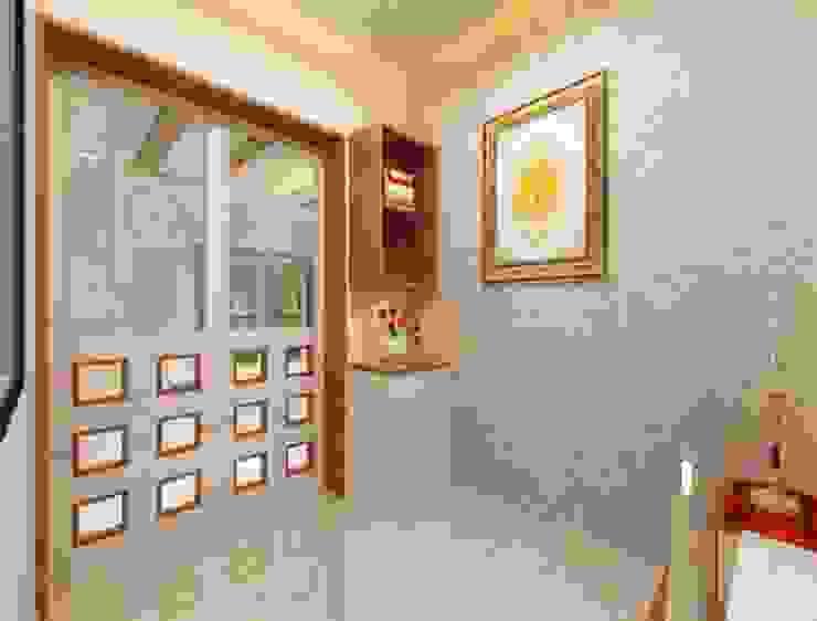 Puja room angle 2 Minimalist study/office by Square 4 Design & Build Minimalist