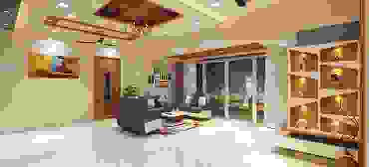 Living room Sofa seating area Minimalist living room by Square 4 Design & Build Minimalist