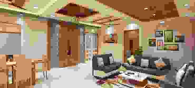 Living room entrance Minimalist style doors by Square 4 Design & Build Minimalist