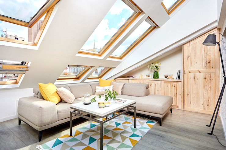ND Interiorismo & Decoración 现代客厅設計點子、靈感 & 圖片