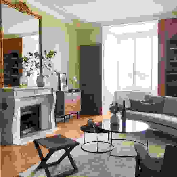 Lichelle Silvestry Interiors Salones de estilo moderno
