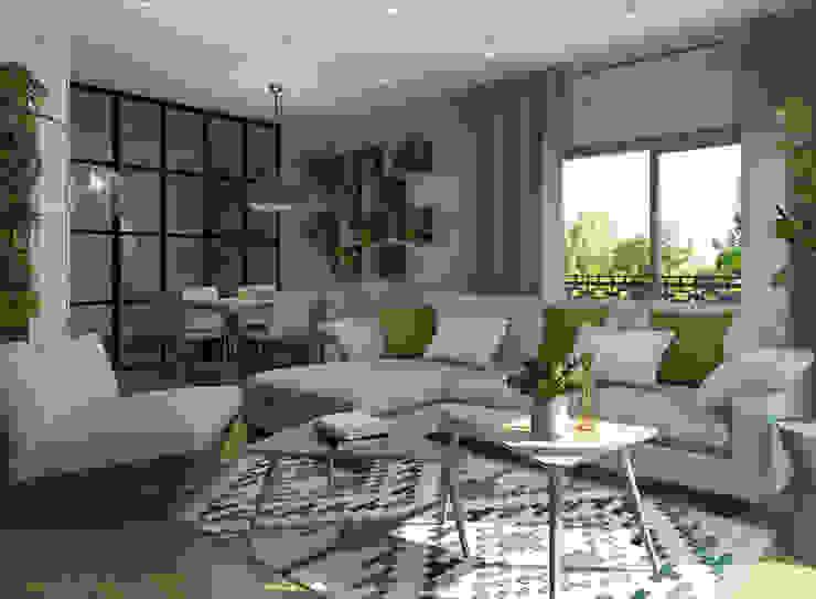 Salón estilo eco Salones de estilo moderno de Glancing EYE - Asesoramiento y decoración en diseños 3D Moderno