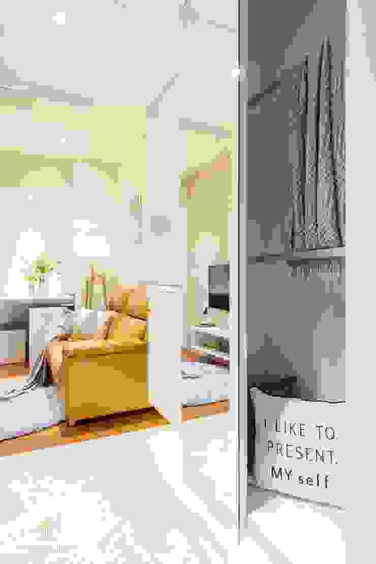 純白簡約 機能小套 沙瑪室內裝修有限公司 走廊 & 玄關