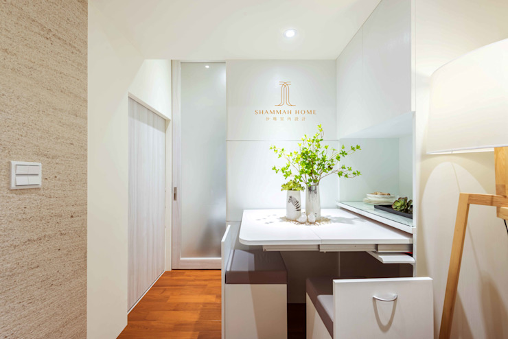 純白簡約 機能小套 沙瑪室內裝修有限公司 餐廳