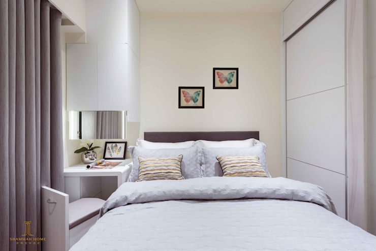 純白簡約 機能小套 沙瑪室內裝修有限公司 臥室