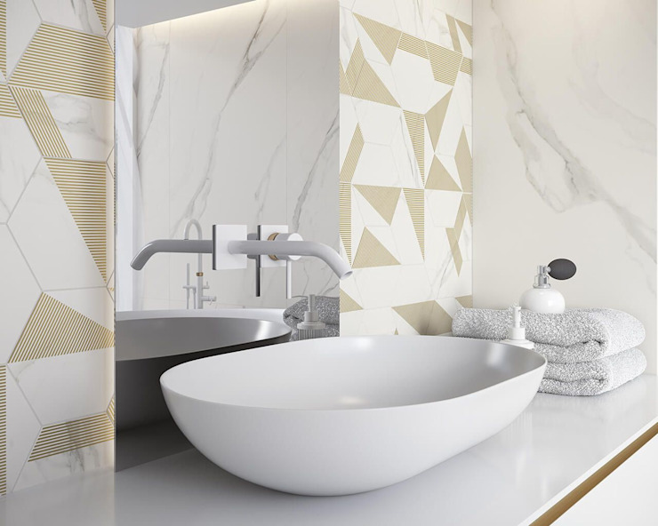 Ceramika Paradyz Baños de estilo moderno