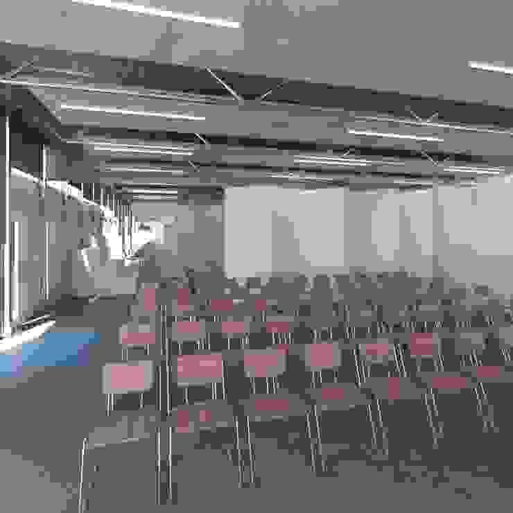 Visual de sala polivalente Salones de eventos de estilo moderno de Divers Arquitectura, especialistas en Passivhaus en Sabadell Moderno