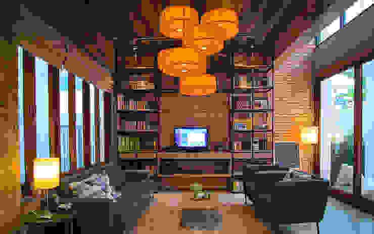 Living Area โดย Pilaster Studio Design
