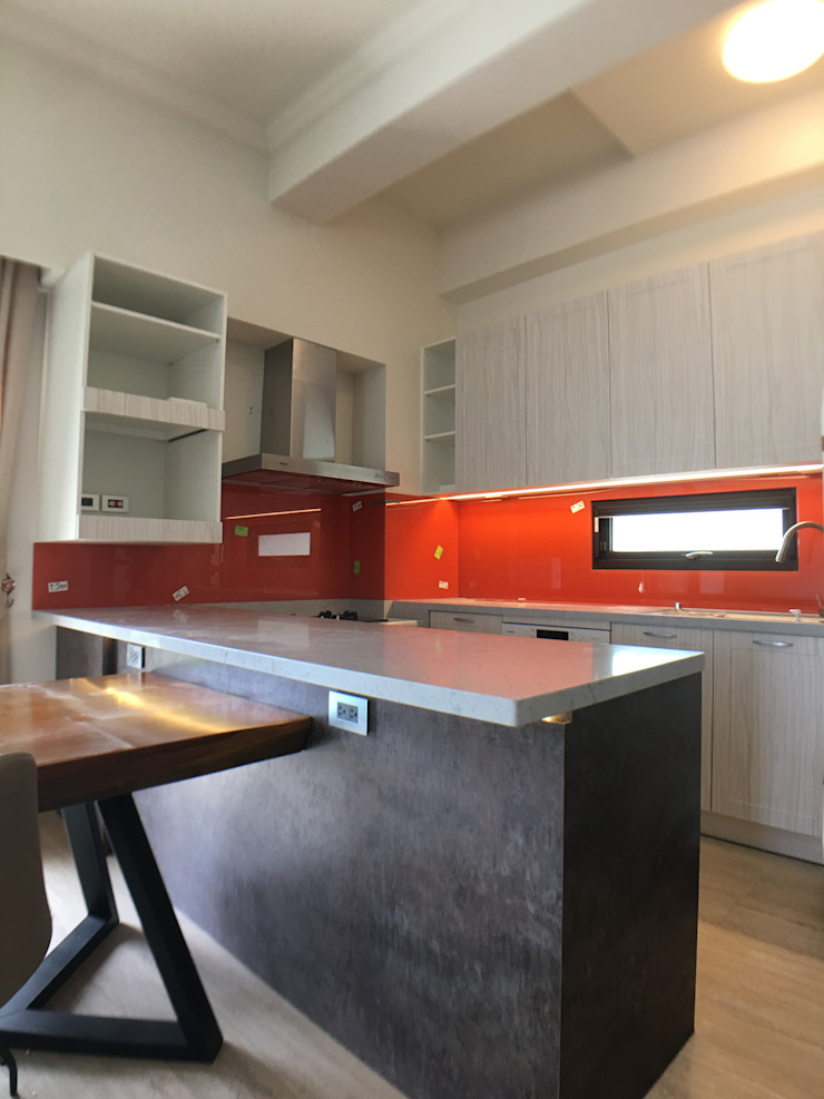 開放式餐廚室 houseda 餐廳 玻璃 Orange