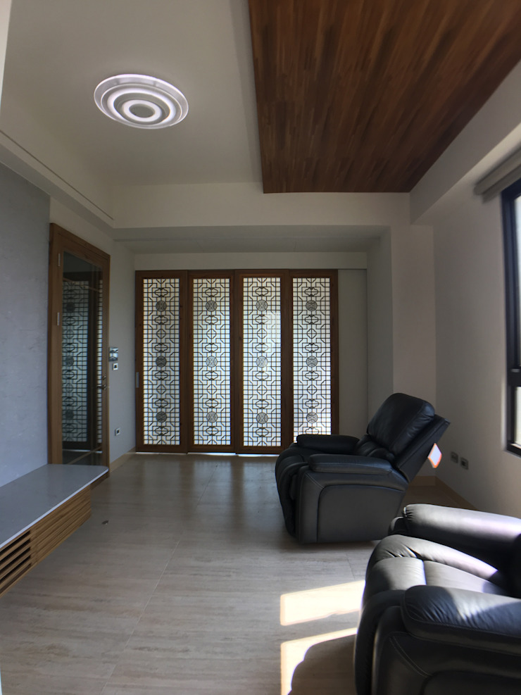 2F客廳 houseda 客廳 玻璃 Wood effect