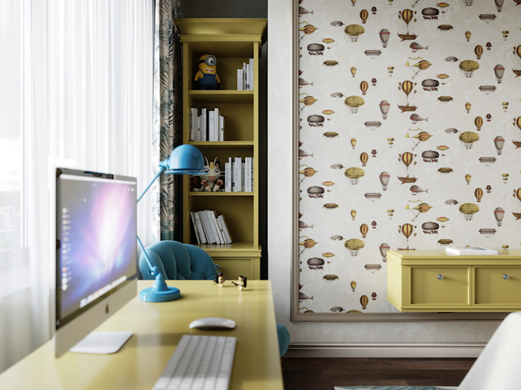 Дизайн интерьера Киев|tishchenko.com.ua Спальня хлопчиків Жовтий