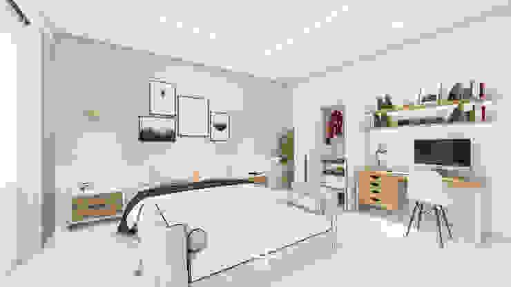Interior Kamar Mr.DS Oleh Poin Plus Studio