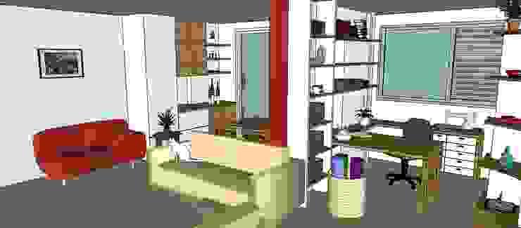 Espaçoarq Arquitetura Ltda Living roomCupboards & sideboards Engineered Wood Multicolored