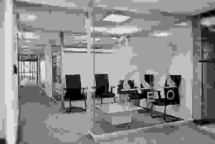 Acceso Estudio AF Estudios y despachos minimalistas