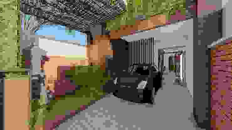 parking area Ruang Komersial Modern Oleh Aper design Modern