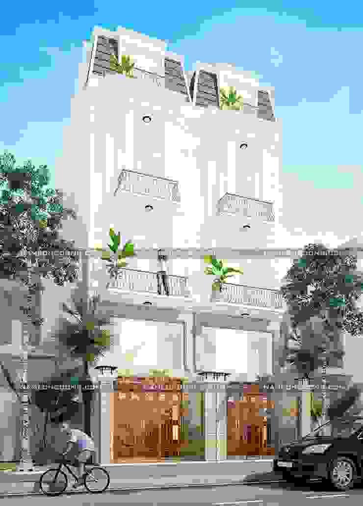 Nhà phố tân cổ điển bởi Nam Long construction