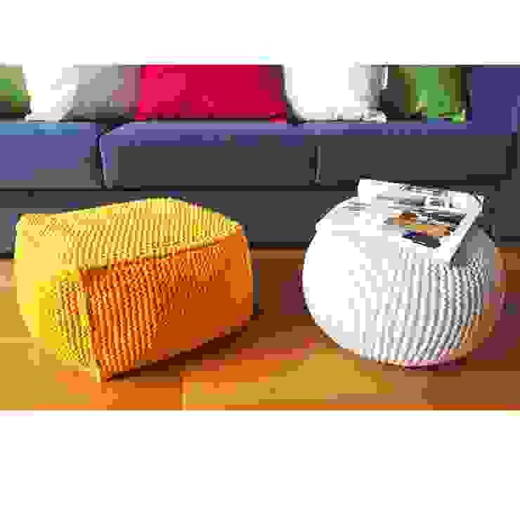 Pouf in maglia - complemento d\'arredo per salotto e camera ...
