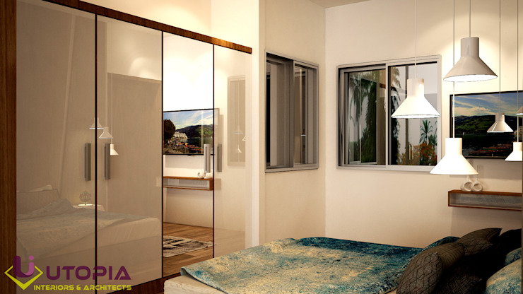 guest bedroom Asian style bedroom by Utopia Interiors & Architect Asian