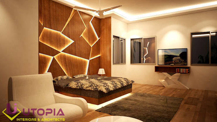 Interior design for MR.Sanjay Asian style bedroom by Utopia Interiors & Architect Asian