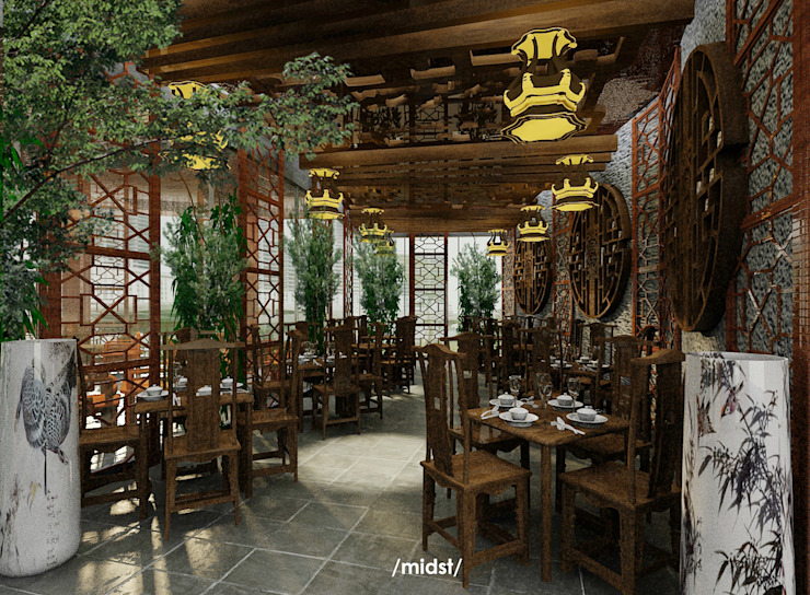 Chinese Restaurant M I D S T Interiors Gastronomi Gaya Asia