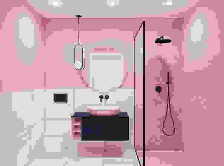 Phòng tắm phong cách hiện đại bởi Pracownia Projektowa HybriDesign Adelina Czerbak Hiện đại