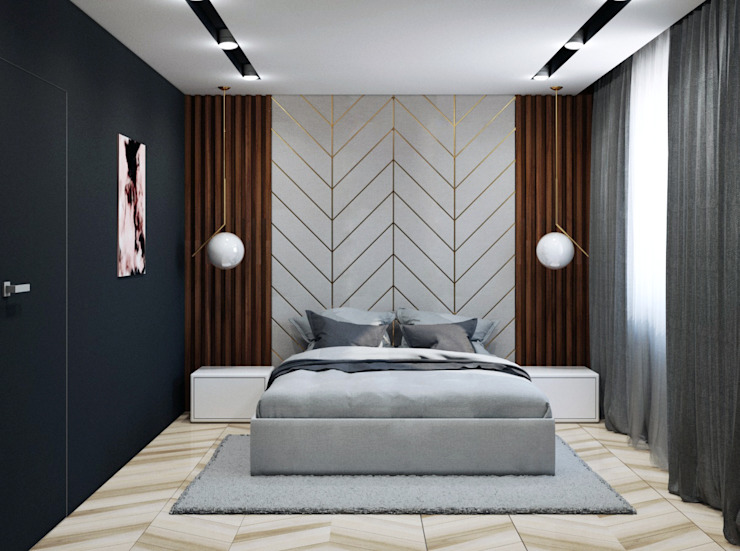 Pracownia Projektowa HybriDesign Adelina Czerbak Moderne Schlafzimmer