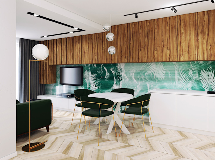 Pracownia Projektowa HybriDesign Adelina Czerbak Living room