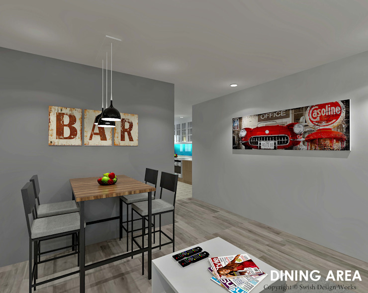 Hougang Street 22 Classic style dining room by Swish Design Works Classic