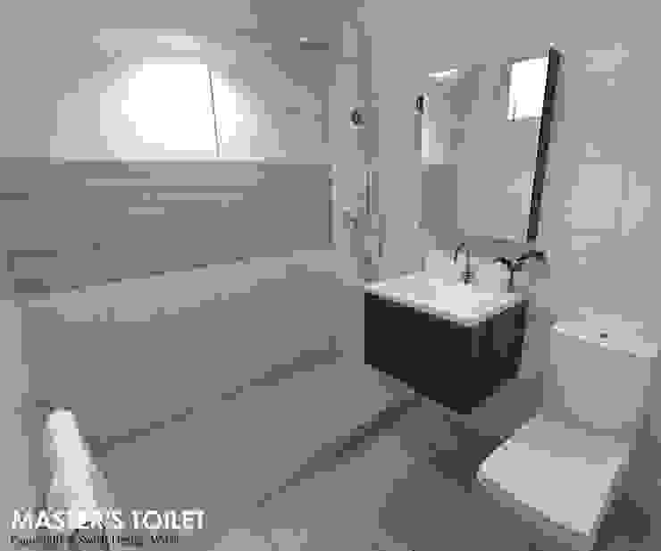 Hougang Street 22 Minimalist style bathroom by Swish Design Works Minimalist