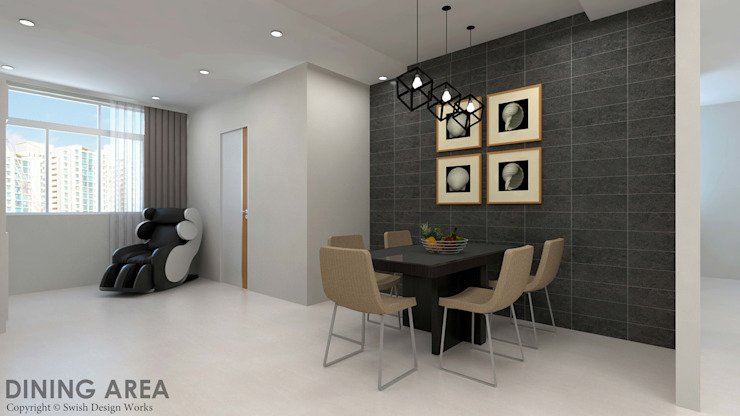 Ang Mo Kio Ave 10 Classic style dining room by Swish Design Works Classic