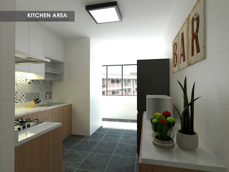 Serangoon Central Asian style kitchen by Swish Design Works Asian