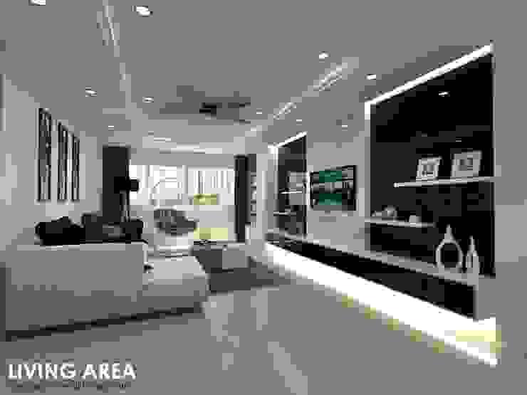 Ang Mo Kio Ave 3 Scandinavian style living room by Swish Design Works Scandinavian