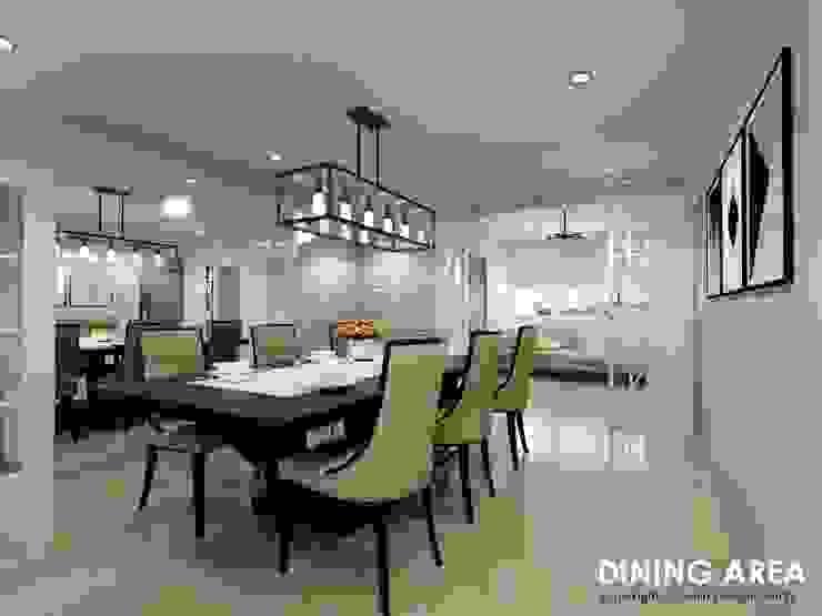 Ang Mo Kio Ave 3 Scandinavian style dining room by Swish Design Works Scandinavian