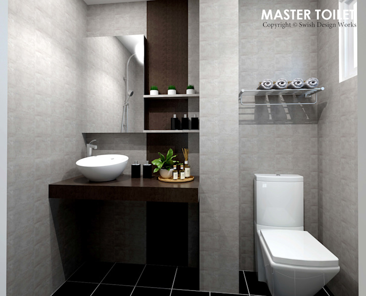 Ang Mo Kio Ave 3 Scandinavian style bathroom by Swish Design Works Scandinavian