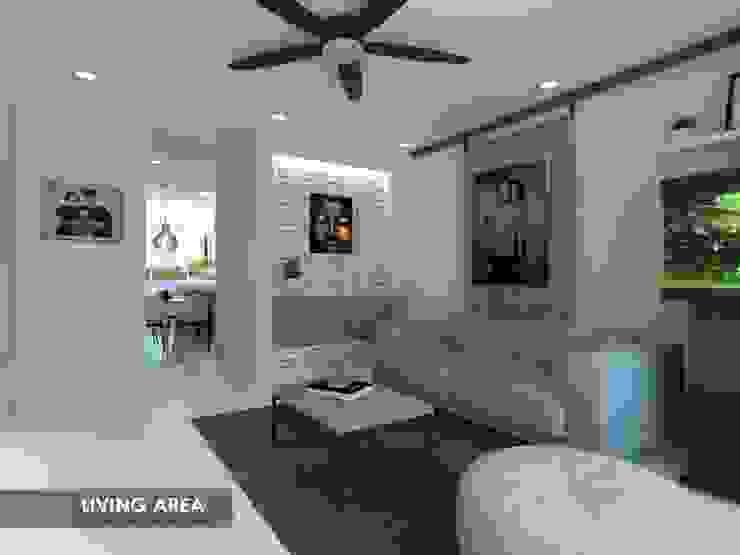 Potong Pasir Ave 1 Modern living room by Swish Design Works Modern
