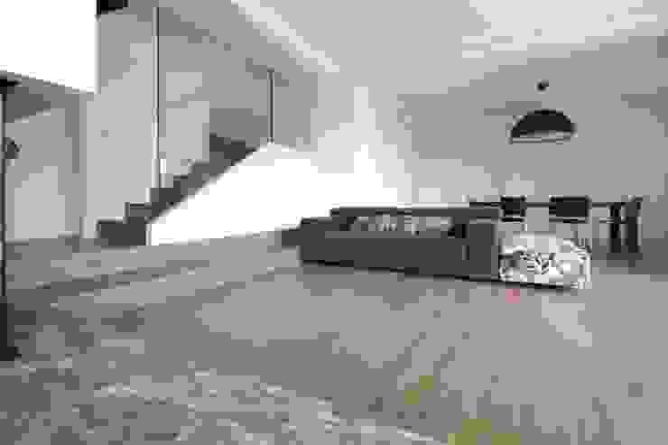 Flavia Benigni Architetto Salas de estilo moderno Madera Blanco
