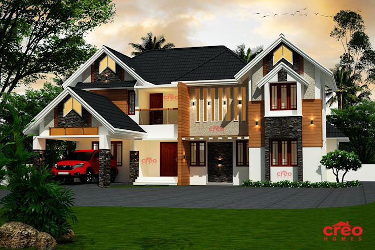 Top ten Home designs in Kerala Asian style houses by Creo Homes Pvt Ltd Asian