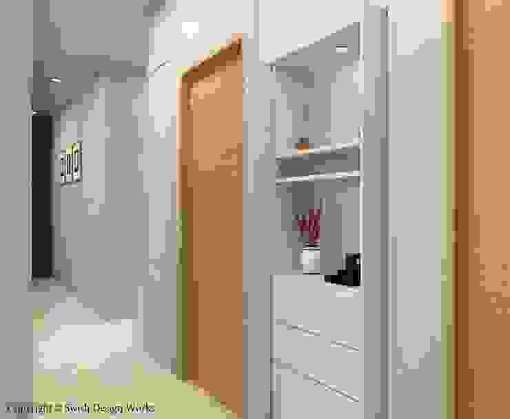 Sennett Residence Scandinavian style corridor, hallway& stairs by Swish Design Works Scandinavian