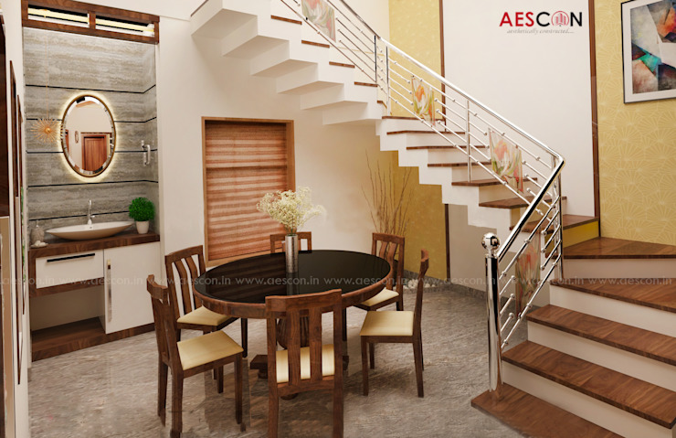 Builders in Chengannur Asian style houses by Aescon Builders and Architects Asian