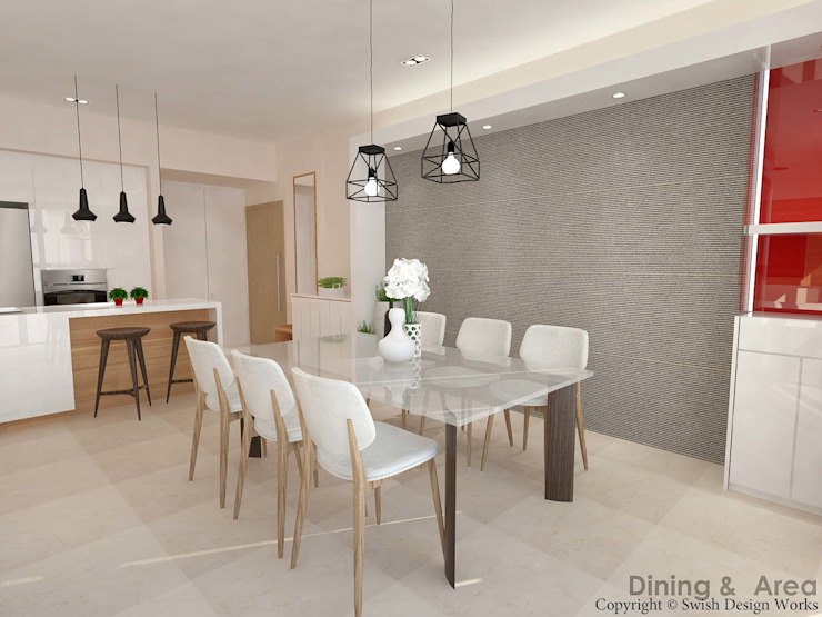 Flamingo Valley Modern dining room by Swish Design Works Modern