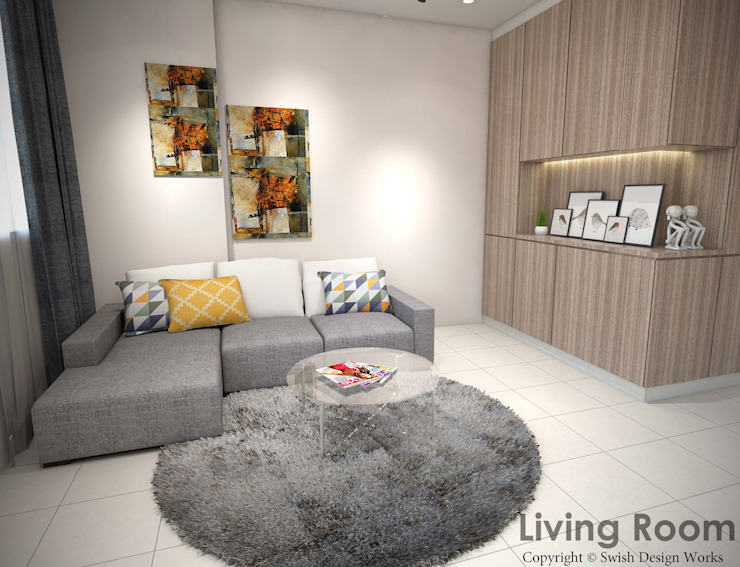Yishun Ave 6 Scandinavian style living room by Swish Design Works Scandinavian