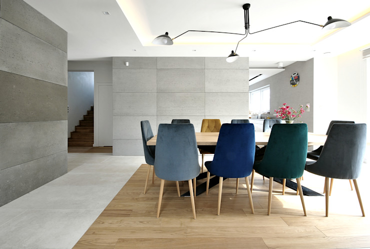 Piotr Stolarek Projektowanie Wnętrz Modern dining room Multicolored