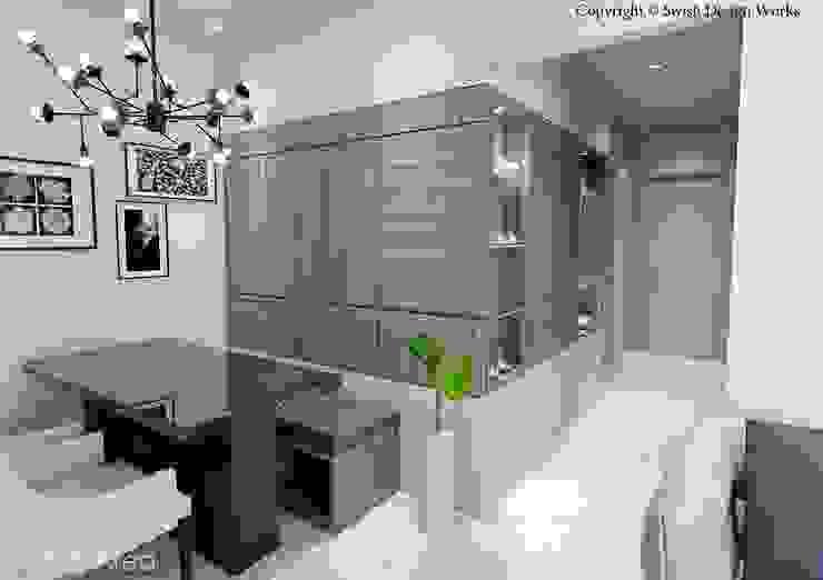 Kallang Trivista Scandinavian style dining room by Swish Design Works Scandinavian