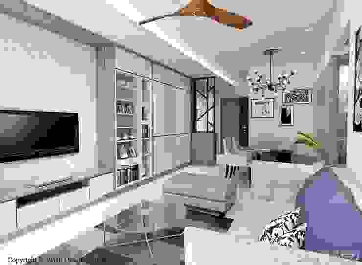 Kallang Trivista Scandinavian style living room by Swish Design Works Scandinavian