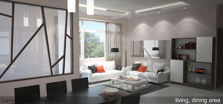 The Alcove Modern living room by Swish Design Works Modern