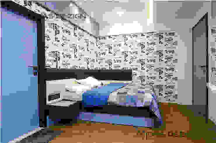 4BHK, Next to Amitabh Bachchan's Bunglow:  Bedroom by Midas Dezign,Modern