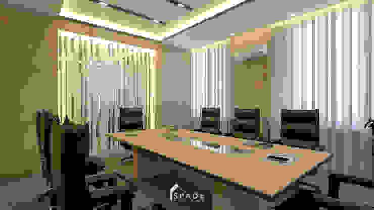 Ruang Meeting Ruang Studi/Kantor Modern Oleh SPADE Studio Indonesia Modern