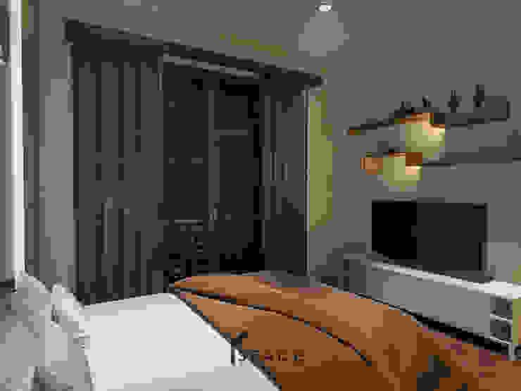 Dekorasi kamar tidur Oleh SPADE Studio Indonesia Minimalis