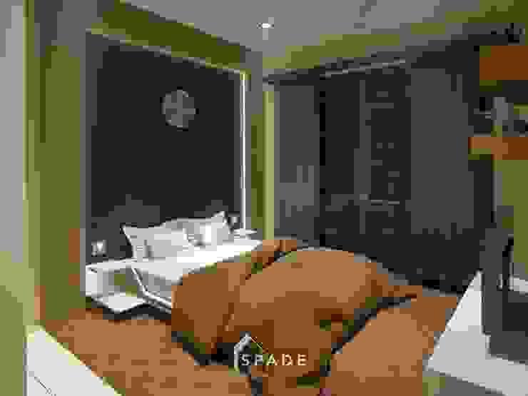 Kamar tidur utama Oleh SPADE Studio Indonesia Minimalis